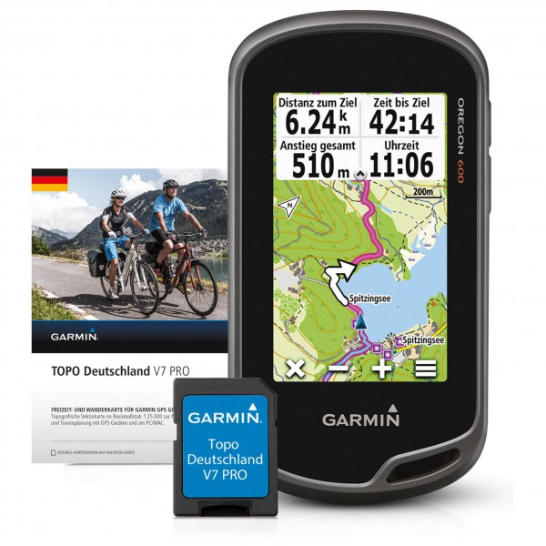 Garmin - Oregon 600 + Topo Deutschland V7 Pro Bundle - GPS-udstyr