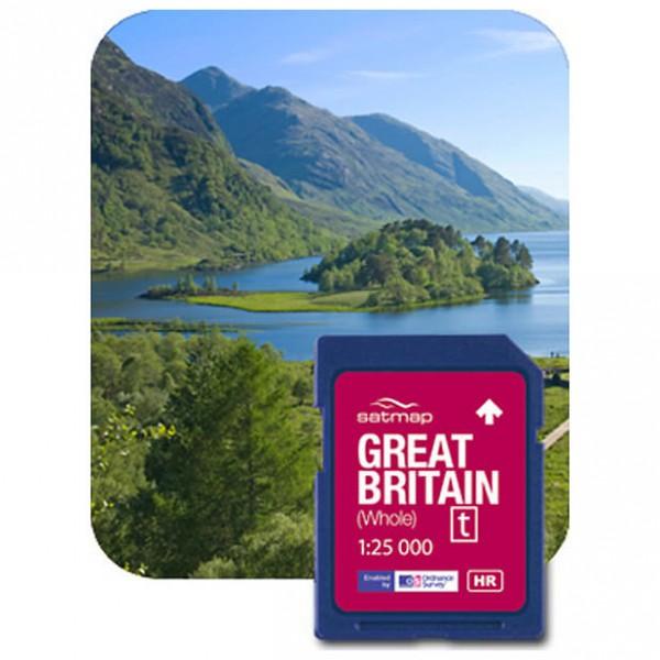 Satmap - Großbritannien Gesamt (OS 1:25k) - SD card
