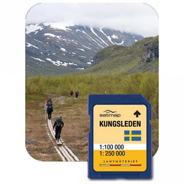 Satmap - Kungsleden Fernwanderweg (1:100k) - SD-kaart