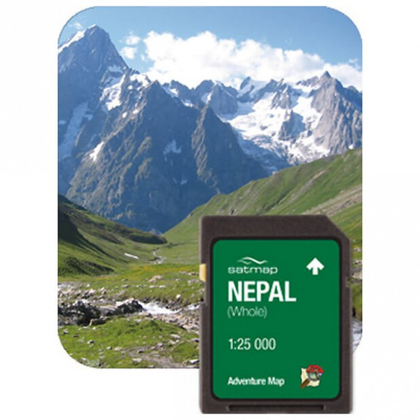 Satmap - Nepal Gesamt (ADV 1:25k) - SD-Karte