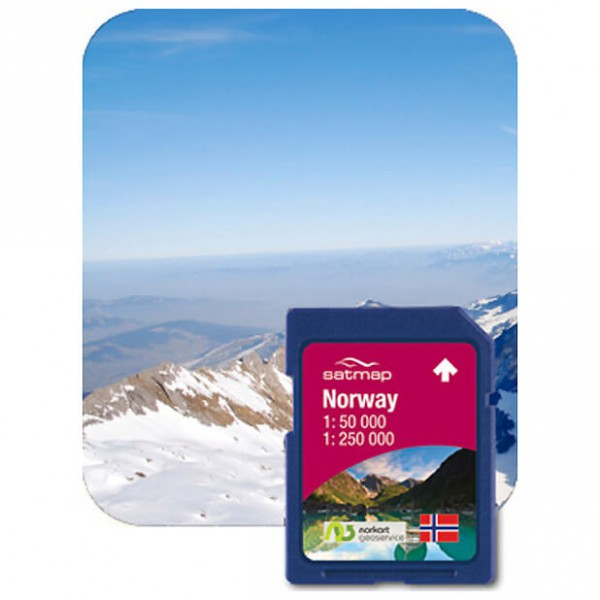 Satmap - Norwegen Gesamt (1:50k) - SD card