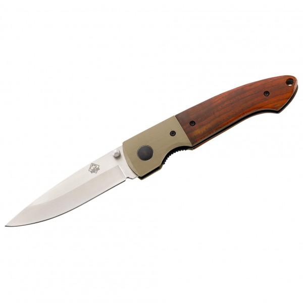 Puma Tec - One hand knife G-10 D 2 Pakka Wood / Khaki
