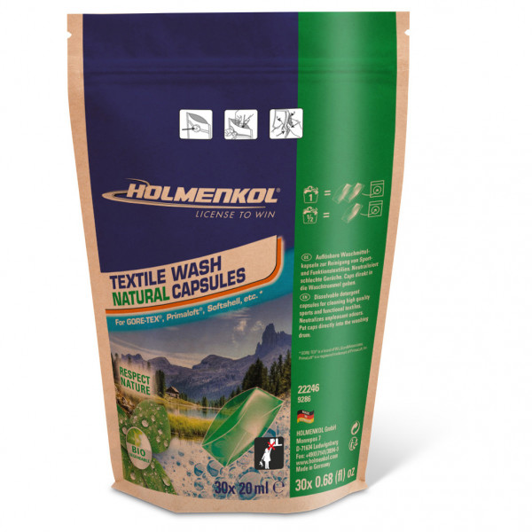 Holmenkol - Textile Wash Natural Capsules - Pesuaine