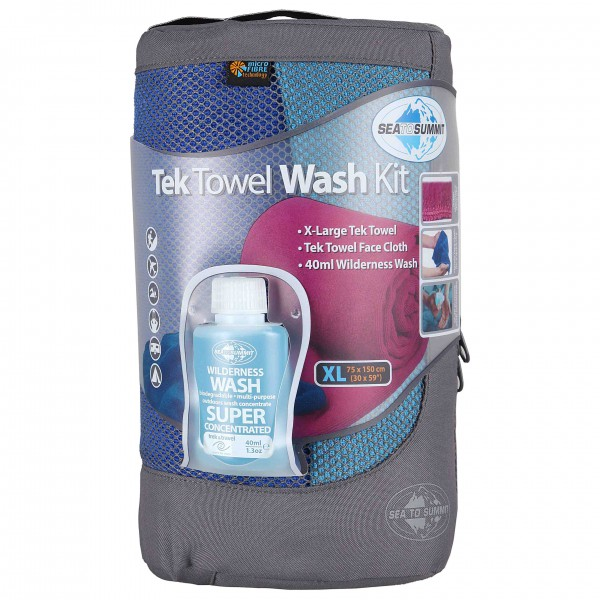 Sea to Summit - Tek Towel Wash Kit - Toalla de microfibra