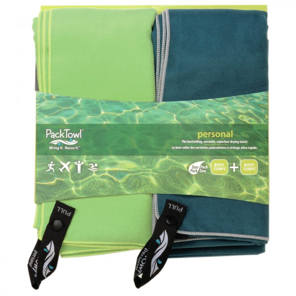 Packtowl - Personal Towel Set 2 - Microfiber towel