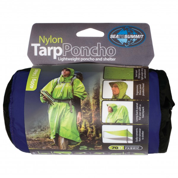 Sea to Summit - Nylon Tarp Poncho - Biwak-makuupussi