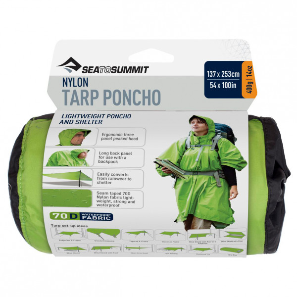 Sea to Summit - Nylon Tarp Poncho - Bivakzak
