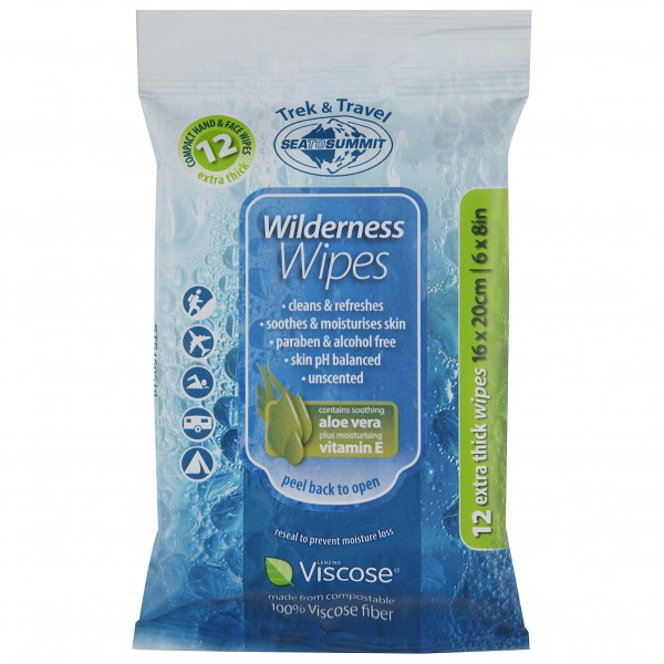 Sea to Summit - Wilderness Wipes - Lingettes désinfectantes