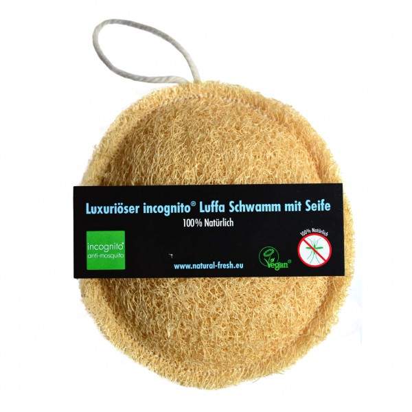 Natural Fresh - Incognito Loofah Schwamm/Scrub & Seife - Insektsmedel