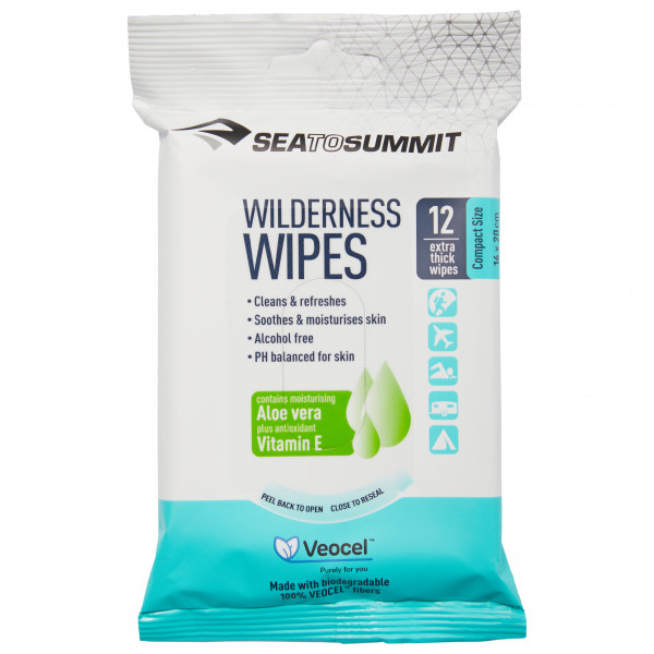Sea to Summit - Wilderness Wipes Packet of 12 wipes - Lichaamsverzorging