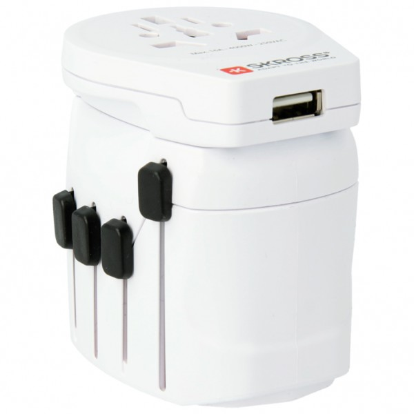 Skross - World Pro + USB Schuko