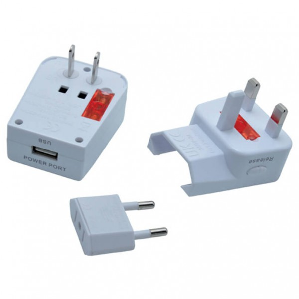 Baladeo - Universal adapter with USB miles