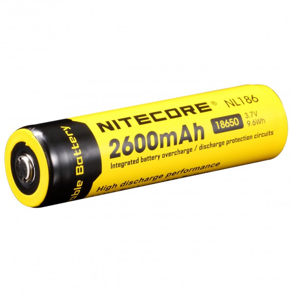Nitecore - Li-Ion Akku 18650 2600 mAh - Rechargeable battery