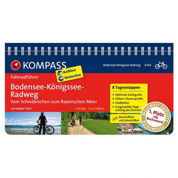 Kompass Bodensee-Königssee-Radweg - Cykelguides køb online | Cycle maps