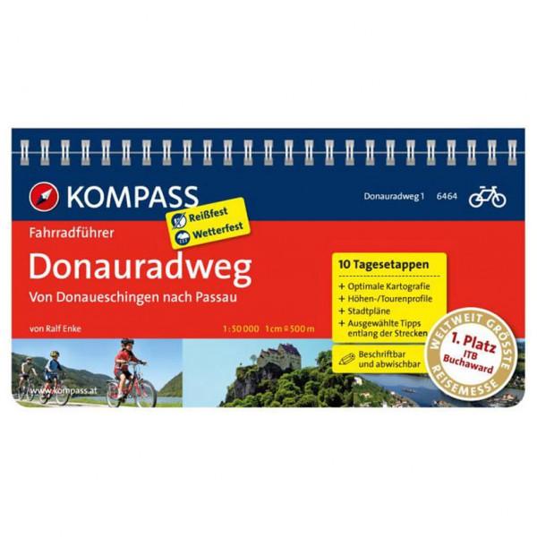 Kompass Donauradweg 1, von Donaueschingen nach Passau - Cykelguides køb online | Cycle maps