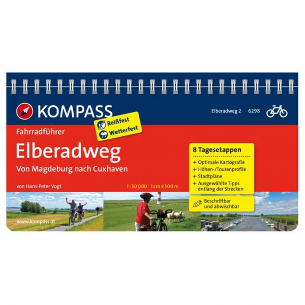 Kompass - Elberadweg von Magdeburg nach Cuxhaven - Cykelguider