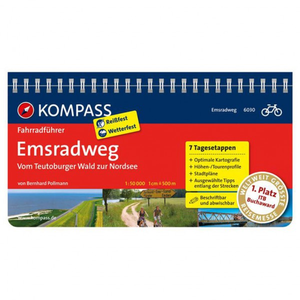 Kompass - Emsradweg, Vom Teutoburger Wald zur Nordsee