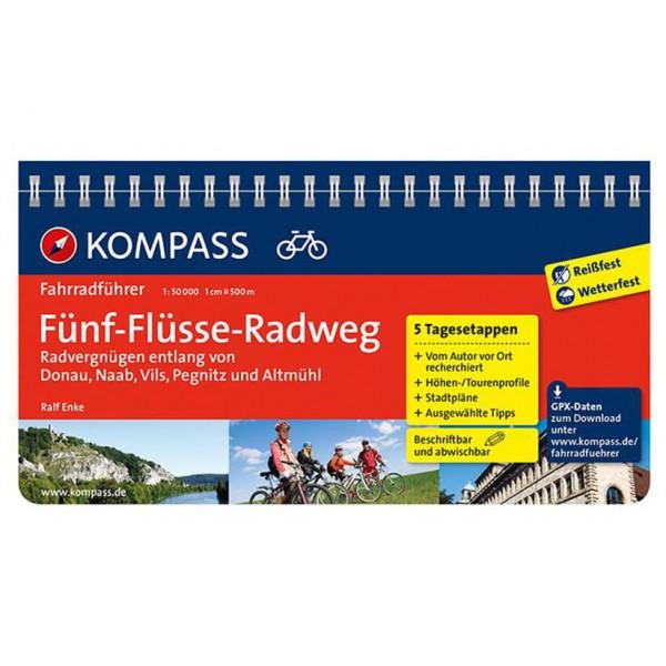 Kompass - Fünf-Flüsse-Radweg (Donau, Naab, Vils, Pegnitz...) - Cykelguider