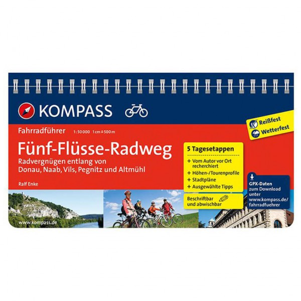 Kompass - Fünf-Flüsse-Radweg (Donau, Naab, Vils, Pegnitz...) - Cykelguides