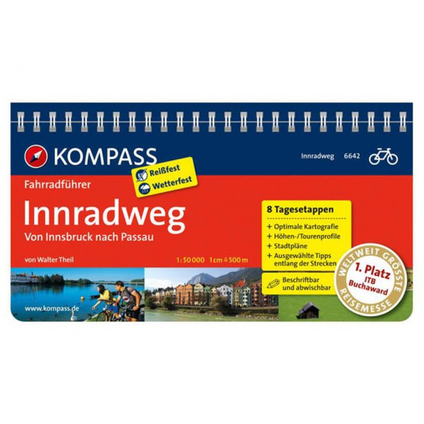 Kompass - Innradweg, Von Innsbruck nach Passau - Cycling guide