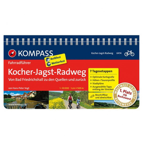 Kompass - Kocher-Jagst-Radweg - Cykelguider