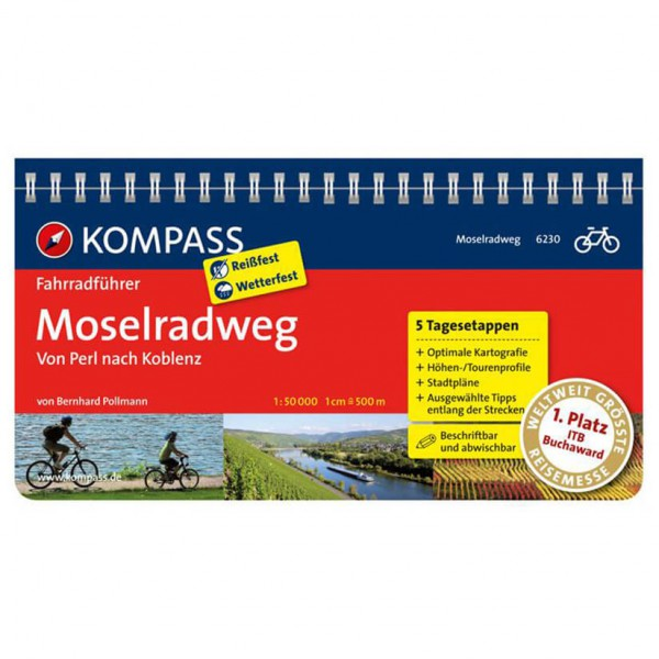 Kompass - Moselradweg von Perl bis Koblenz - Radführer