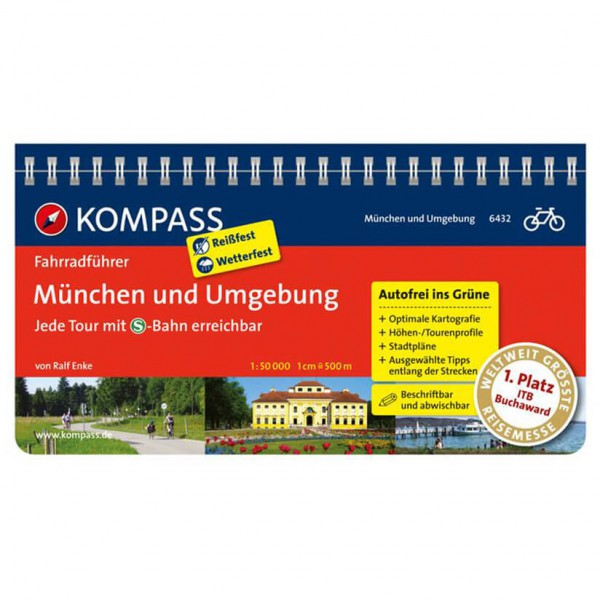 Kompass München und Umgebung - Cykelguides køb online | Cycle maps
