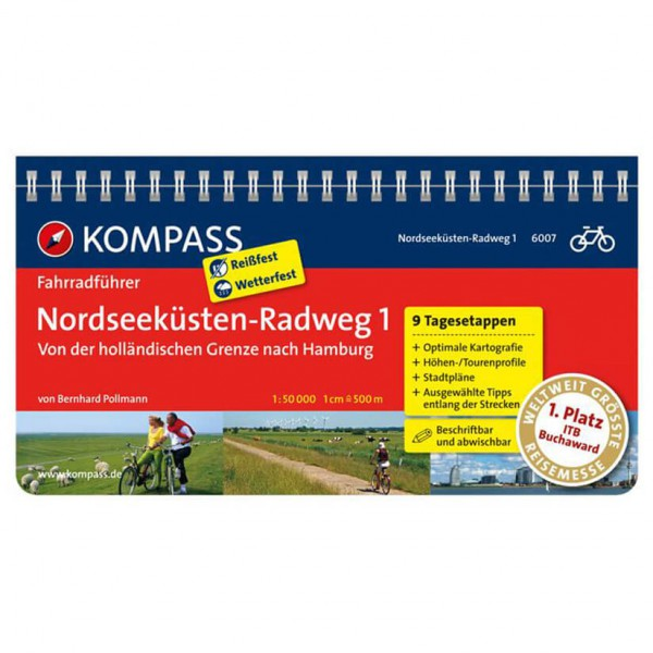Kompass - Nordseeküsten-Radweg 1 - Cycling guide