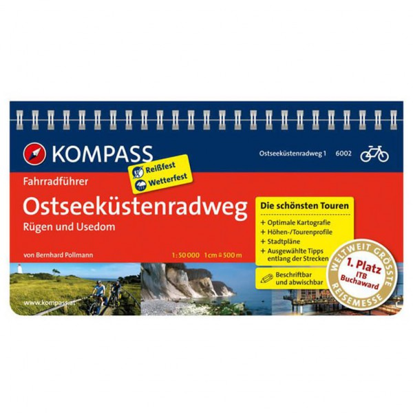 Kompass - Ostseeküstenradweg 1 Rügen und Usedom - Sykkelguide