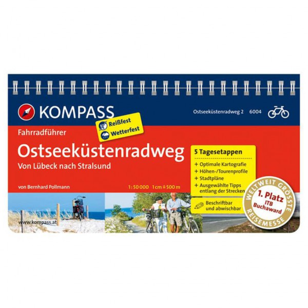 Kompass - Ostseeküstenradweg 2, von Lübeck nach Stralsund - Cykelguider