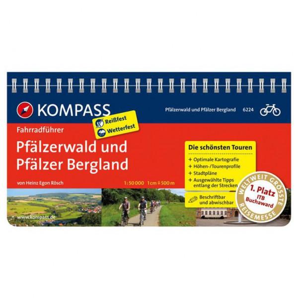 Kompass Pfälzerwald und Pfälzer Bergland - Cykelguides køb online | Kort