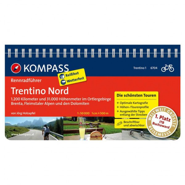 Kompass - Rennradführer Trentino Bd 1: Trentino Nord - Pyöräilyoppaat