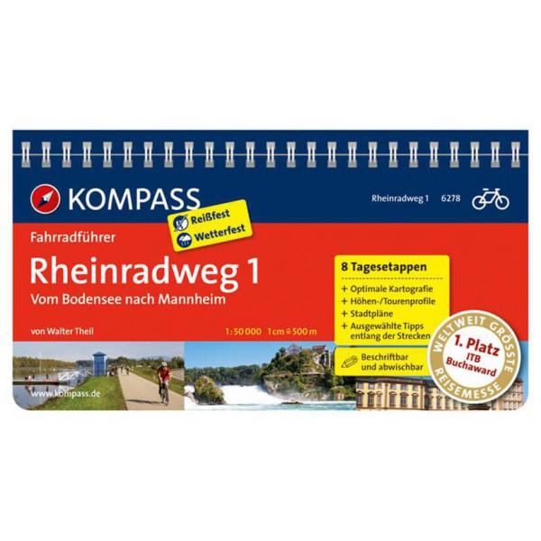 Kompass - Rheinradweg 1, vom Bodensee nach Mannheim - Cykelguides