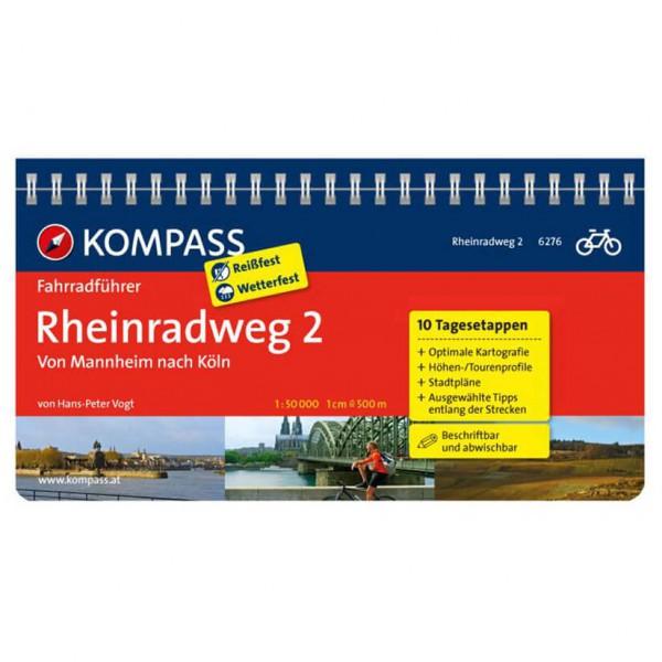 Kompass - Rheinradweg 2, von Mannheim nach Köln - Pyöräilyoppaat