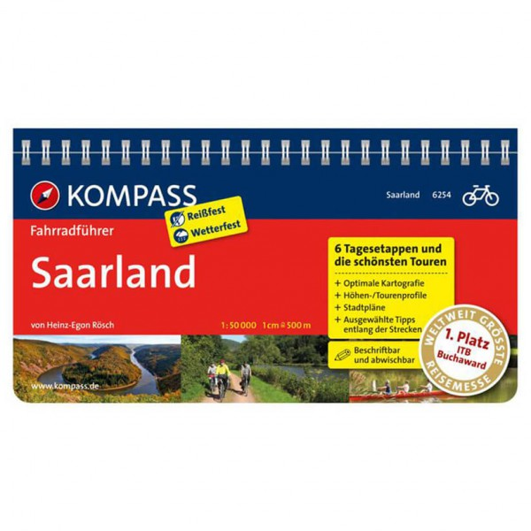 Kompass Saarland - Cykelguides køb online | Cycle maps