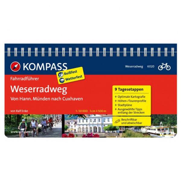 Kompass - Weserradweg, von Hann. Münden nach Cuxhaven - Pyöräilyoppaat