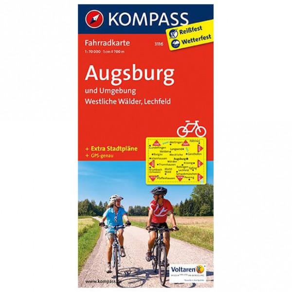 Kompass Augsburg und Umgebung - Cykelkort køb online | Cycle maps