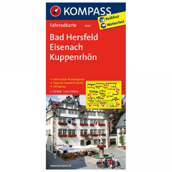 Kompass - Bad Hersfeld - Cartes de randonnée à vélo