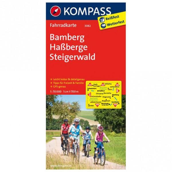 Kompass - Bamberg - Cartes de randonnée à vélo