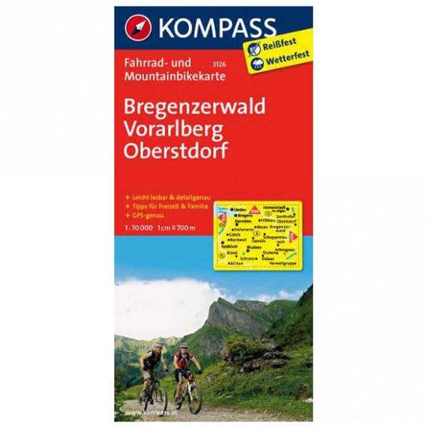 Kompass - Bregenzerwald - Mapa de rutas en bicicleta