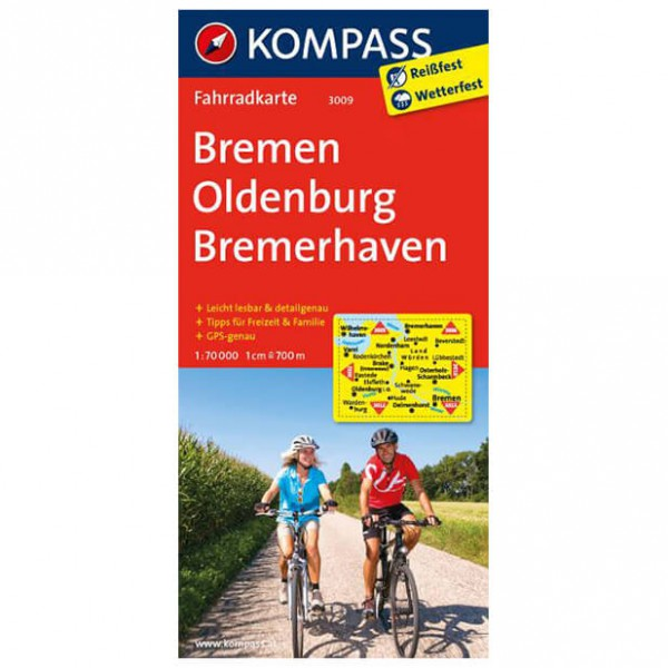 Kompass Bremen - Oldenburg - Cykelkort køb online | Cycle maps