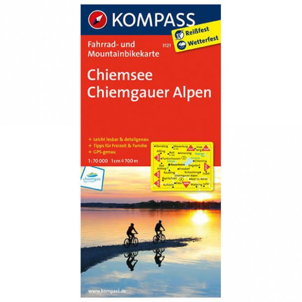 Kompass - Chiemsee - Cartes de randonnée à vélo