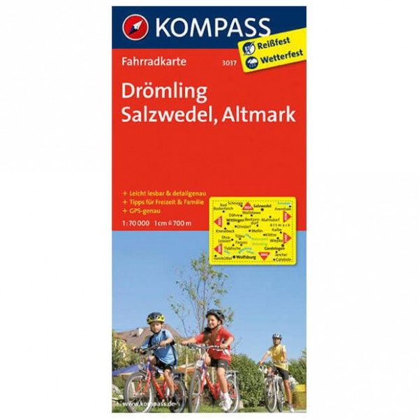 Kompass - Drömling - Radkarte