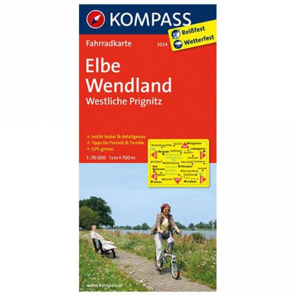 Kompass Elbe - Wendland - Westliche Prignitz - Cykelkort køb online | Cycle maps
