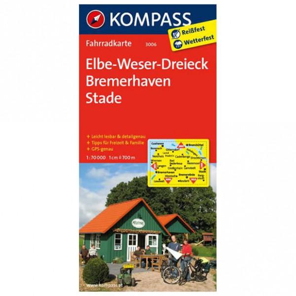 Kompass - Elbe - Weser-Dreieck - Bremerhaven - Fietskaart