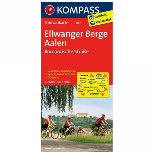 Kompass - Ellwanger Berge - Cartes de randonnée à vélo