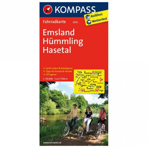 Kompass - Emsland - Cartes de randonnée à vélo