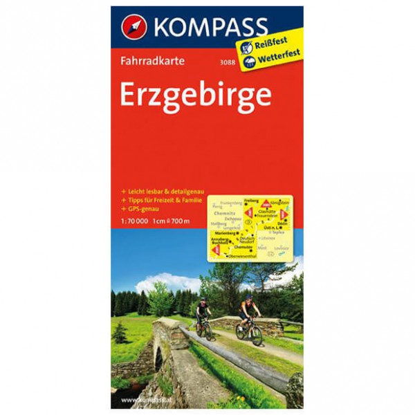 Kompass - Erzgebirge - Cycling maps