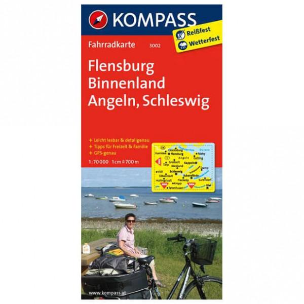 Kompass - Flensburg Binnenland - Cartes de randonnée à vélo