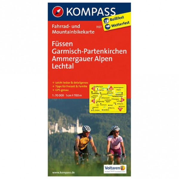 Kompass - Füssen - Pyöräilykartat